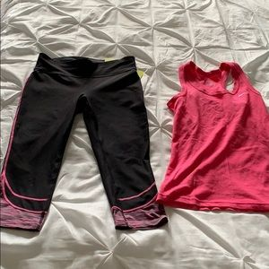 Xsersion capris and Nike tank